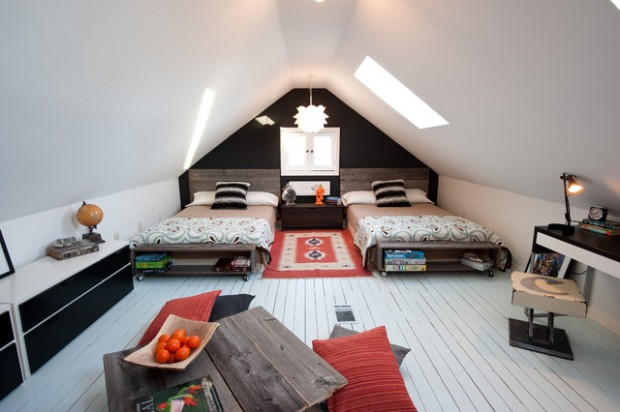 20 Great Ideas for How to Use Your Attic Space (16)