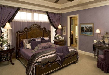 20 Master Bedroom Design Ideas in Romantic Style - romantic bedroom, bedroom design, bedroom