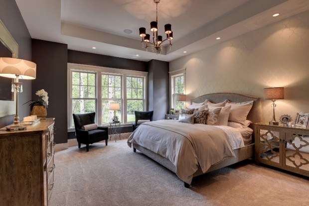 20 master bedroom design ideas in romantic style style for Master bed design ideas