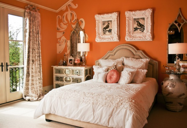 Orange Bedroom Wall Decor