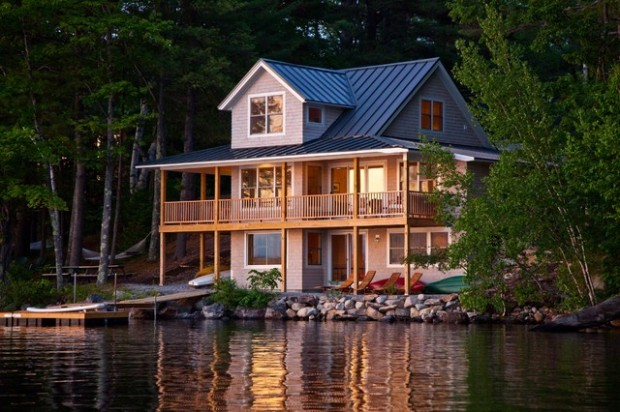 20 amazing lake houses style motivation for House plans maine