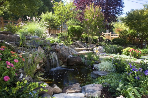 22 Great Pond Design Ideas for Your Garden (18)