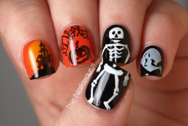 23 Easy Creative And Funny Nail Art Ideas For Halloween Style