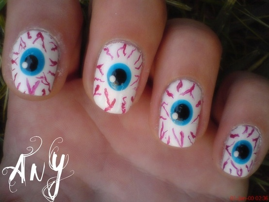 23 Easy Creative and Funny Nail Art Ideas for Halloween - 23 Easy Creative And Funny Nail Art Ideas For Halloween - Style