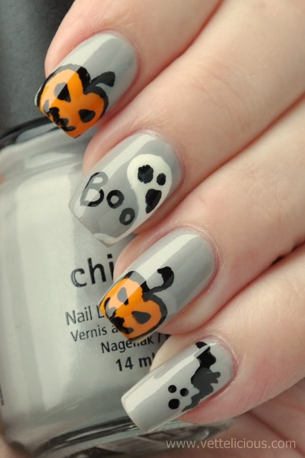 23 Easy Creative and Funny Nail Art Ideas for Halloween (15)