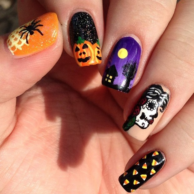 23 Easy Creative and Funny Nail Art Ideas for Halloween (8)