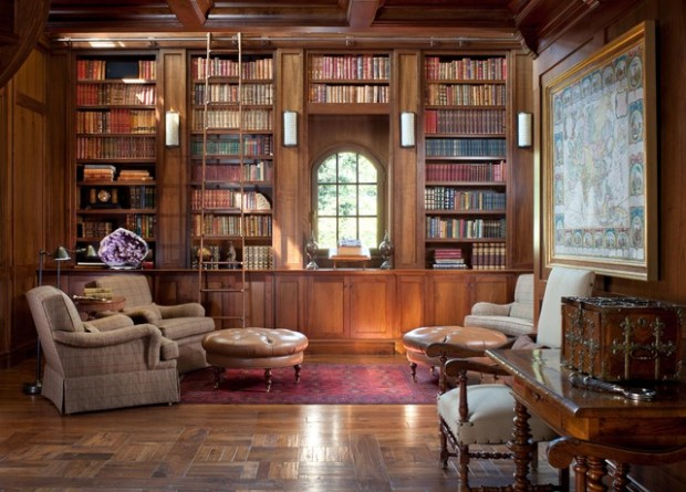 24 Amazing Home Library Design Ideas for All Booklovers (13)