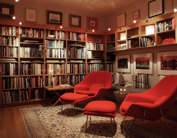 24 Amazing Home Library Design Ideas for All Booklovers (14)