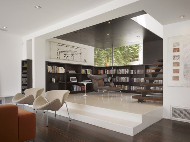 24 Amazing Home Library Design Ideas for All Booklovers (16)