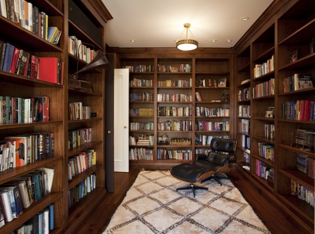 24 Amazing Home Library Design Ideas for All Booklovers (18)