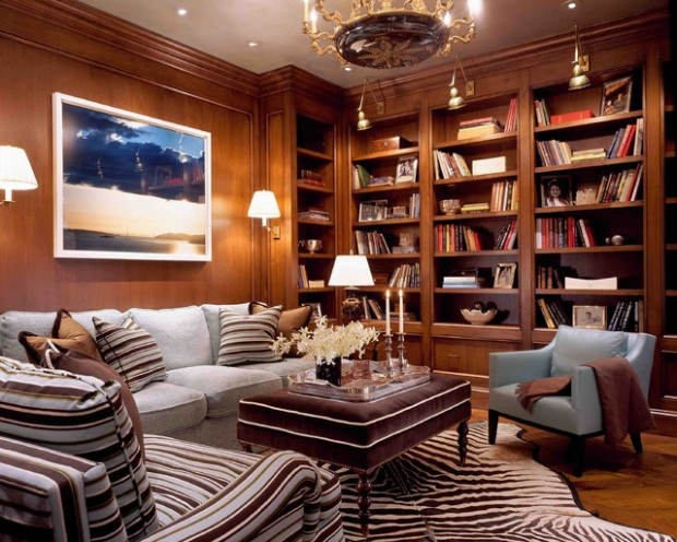 24 Amazing Home Library Design Ideas for All Booklovers (19)