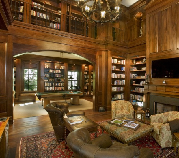 24 Amazing Home Library Design Ideas for All Booklovers (2)