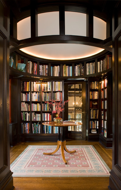 23 amazing home library design ideas for all book lovers for Home library ideas design
