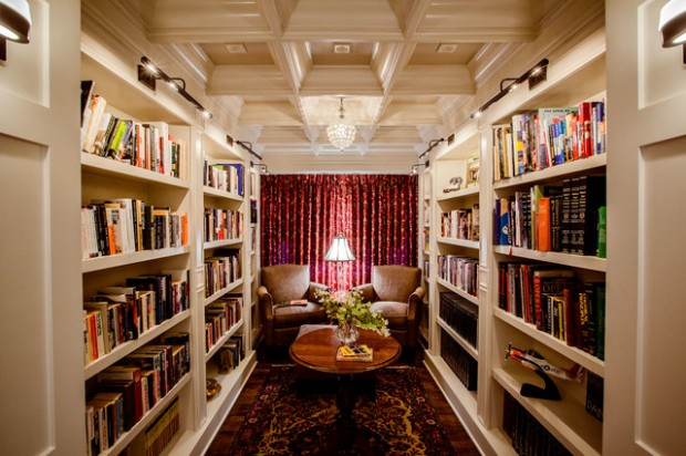 24 Amazing Home Library Design Ideas for All Booklovers (22)