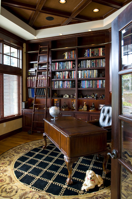 24 Amazing Home Library Design Ideas for All Booklovers (23)
