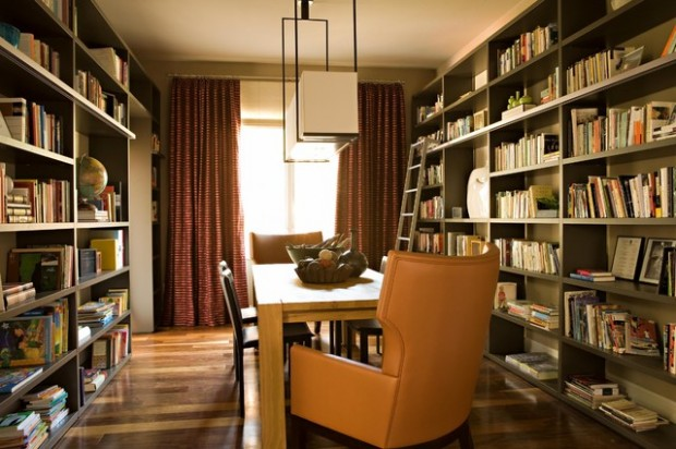 24 Amazing Home Library Design Ideas for All Booklovers (6)