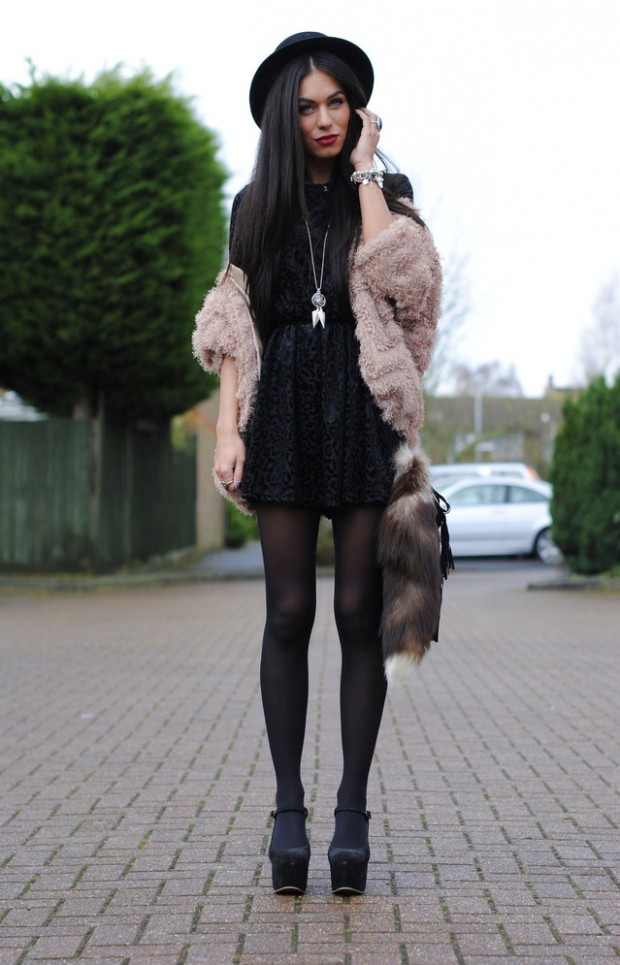 24 Gorgeous Ideas How to Wear Dress and Skirt in Cold Weather (1)