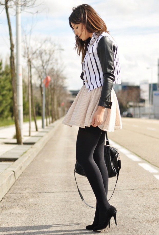 24 Gorgeous Ideas How to Wear Dress and Skirt in Cold Weather (12)