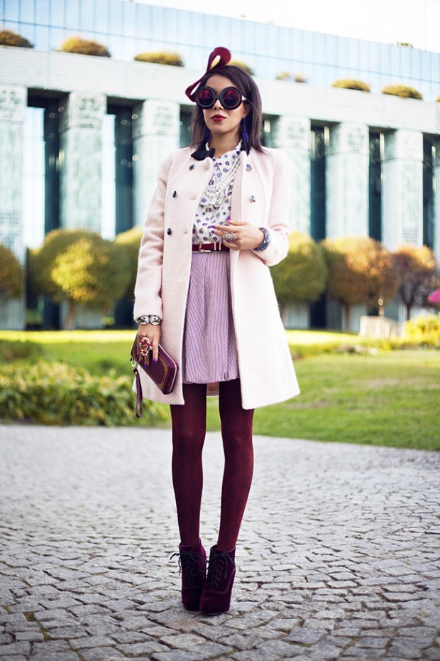 24 Gorgeous Ideas How to Wear Dress and Skirt in Cold Weather (13)