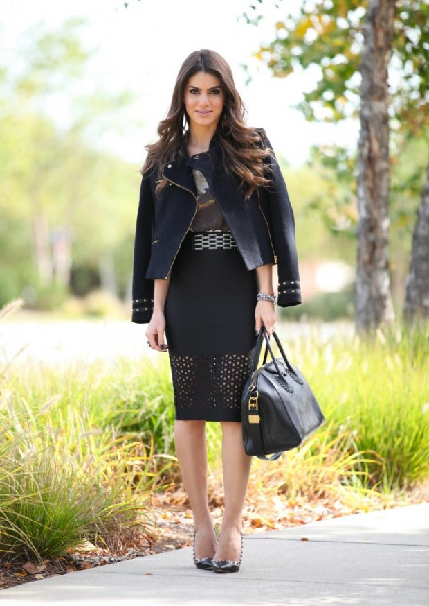 24 Gorgeous Ideas How to Wear Dress and Skirt in Cold Weather (16)