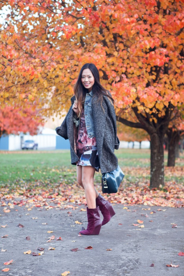 24 Gorgeous Ideas How to Wear Dress and Skirt in Cold Weather (18)