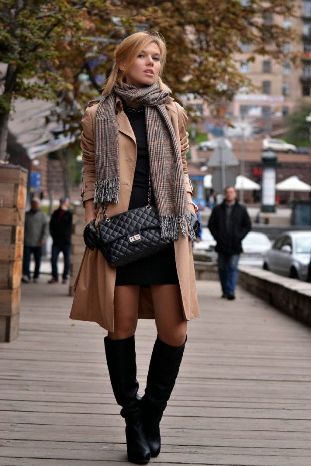 24 Gorgeous Ideas How to Wear Dress and Skirt in Cold Weather (24)