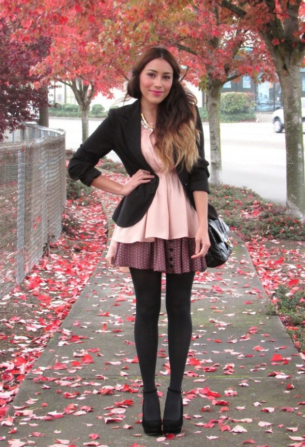 24 Gorgeous Ideas How to Wear Dress and Skirt in Cold Weather (4)