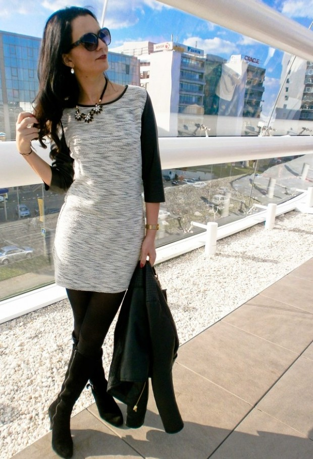 24 Gorgeous Ideas How to Wear Dress and Skirt in Cold Weather (6)
