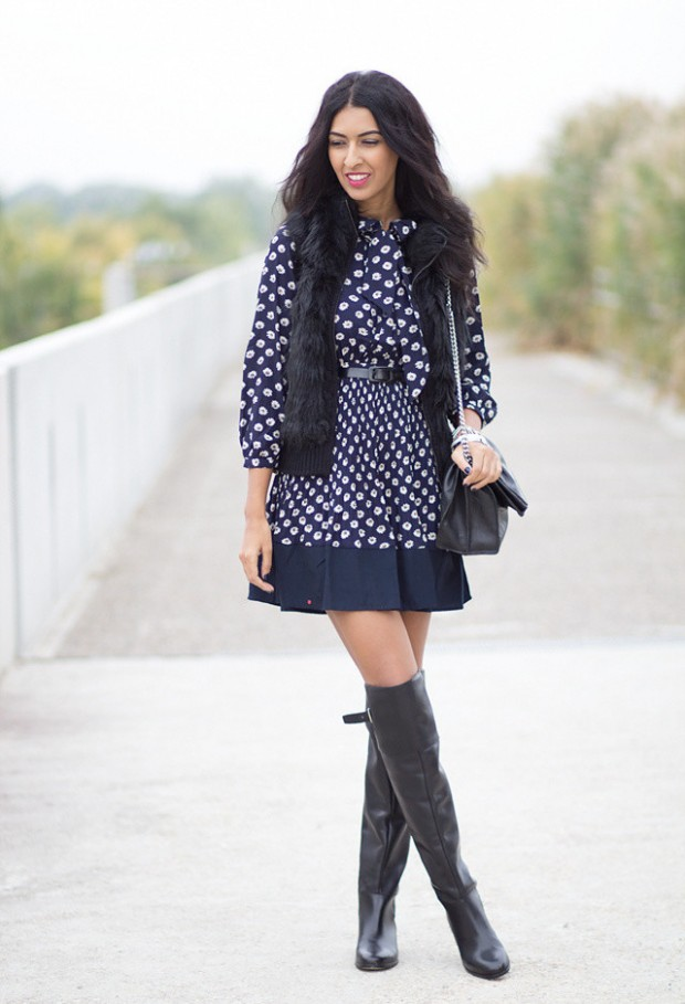 24 Gorgeous Ideas How to Wear Dress and Skirt in Cold Weather (8)