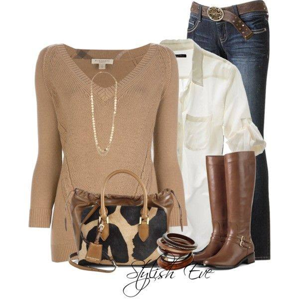 24 Nude and Brown Fashion Combinations in Fall Spirit (24)