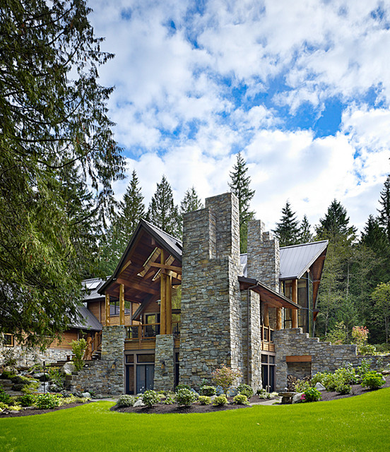 25 amazing mountain houses style motivation for Amazing home exteriors
