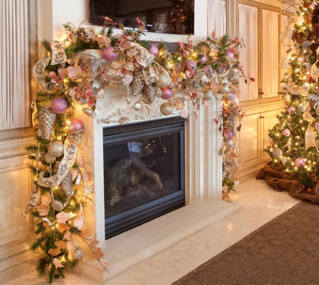 23 gorgeous christmas mantel decoration ideas - Pictures Of Mantels Decorated For Christmas