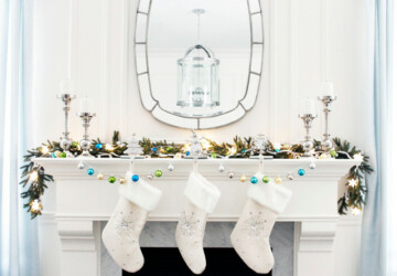 23 Gorgeous Christmas Mantel Decoration Ideas - mantel decoration, mantel, Christmas mantel decoration, christmas decoration, Christmas