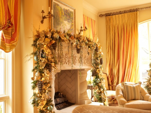 23 Gorgeous Christmas Mantel Decoration Ideas