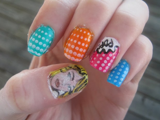 26 Attractive and Popular Nail Art Ideas That You Will Love (9)