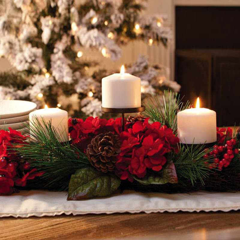 A christmas collection of beautiful candle holders