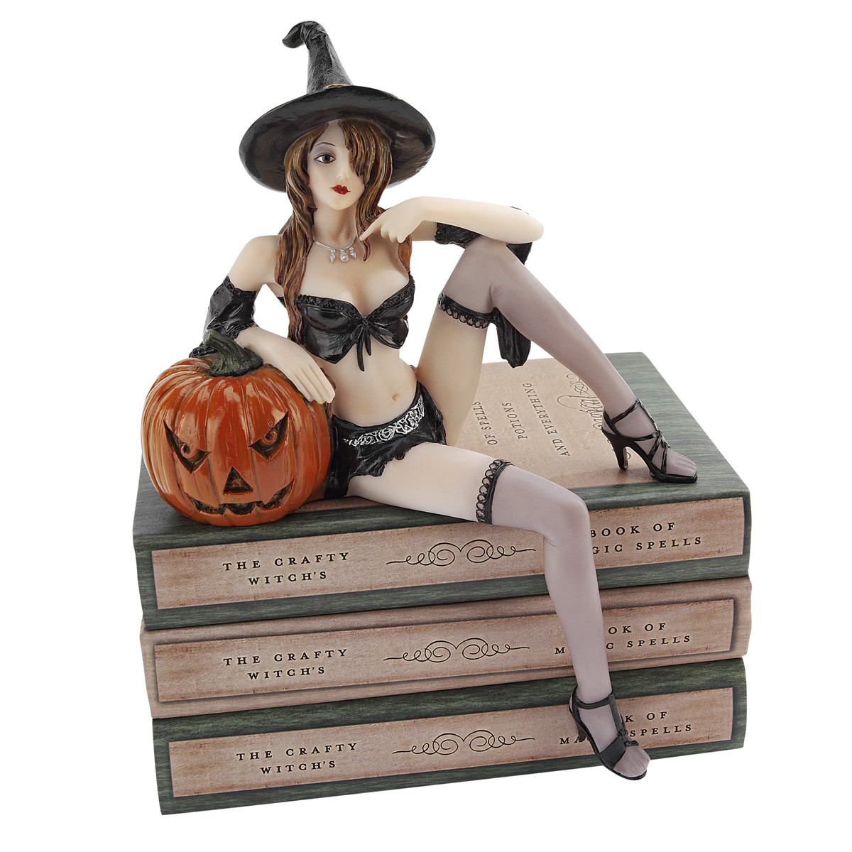 a large collection of hair raising halloween decorations - Halloween Statues