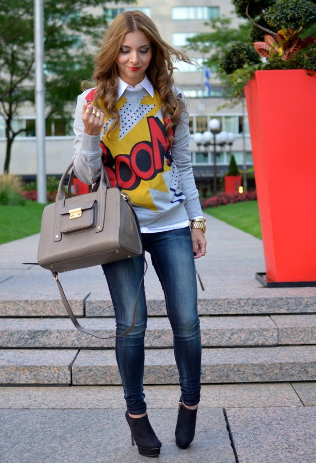 Perfect Fall Look 20 Outfit Ideas with Jeans (11)