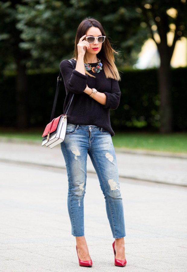 Perfect Fall Look 20 Outfit Ideas with Jeans (12)
