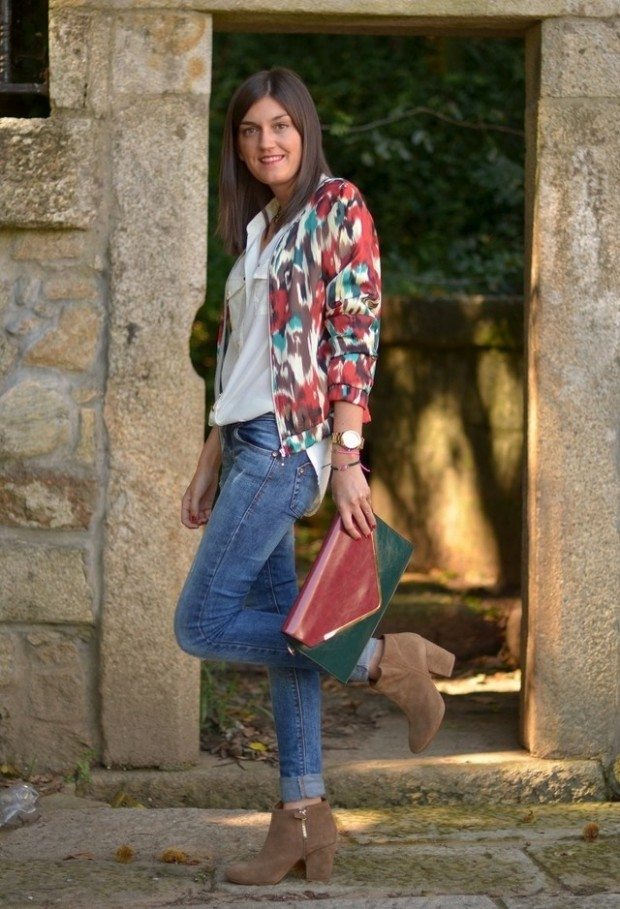 Perfect Fall Look 20 Outfit Ideas with Jeans (2)