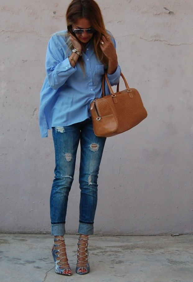 Perfect Fall Look 20 Outfit Ideas with Jeans (20)
