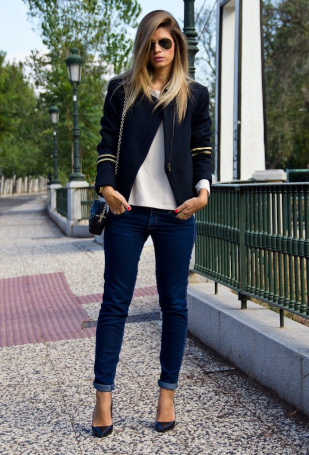 Perfect Fall Look 20 Outfit Ideas with Jeans (6)