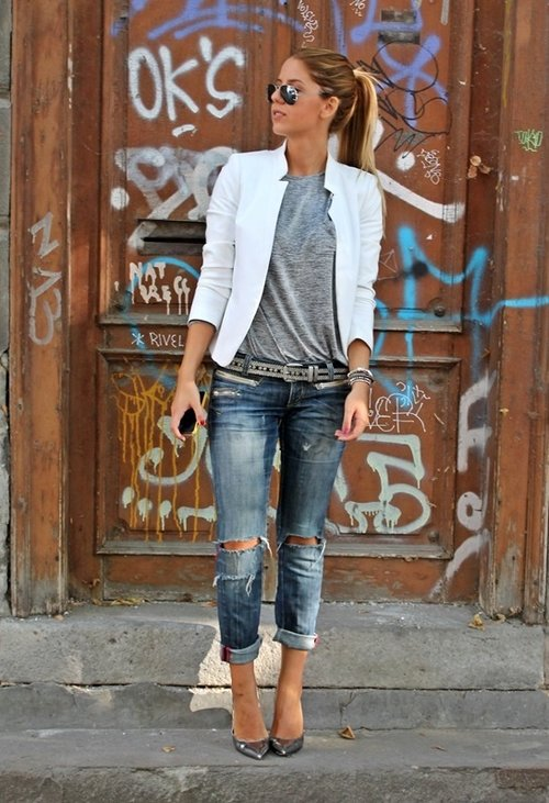 Perfect Fall Look 20 Outfit Ideas with Jeans (8)