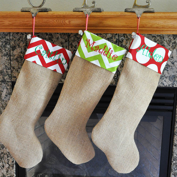 Burlap Christmas Stockings.15 Cute And Creative Christmas Stocking Designs Style