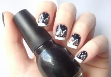 19 Gorgeous Winter Inspired Nail Art Ideas - winter nail art, winter, nails, nail art ideas, Nail Art, Christmas nails