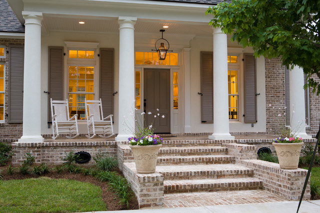 18 great traditional front porch design ideas style for Brick porch designs for houses