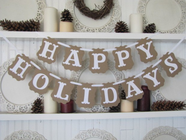 20 Amazing Decorating Ideas with Christmas Banners (1)