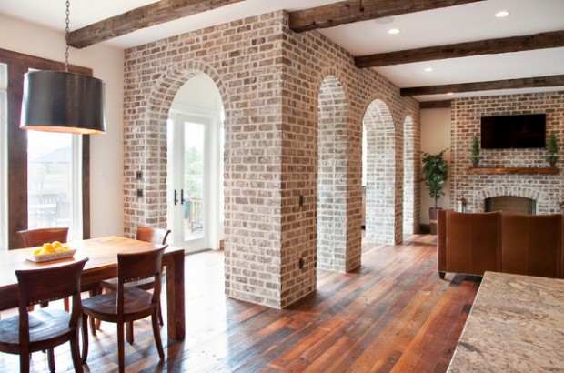 20 amazing interior design ideas with brick walls style motivation for Brick wallpaper interior design
