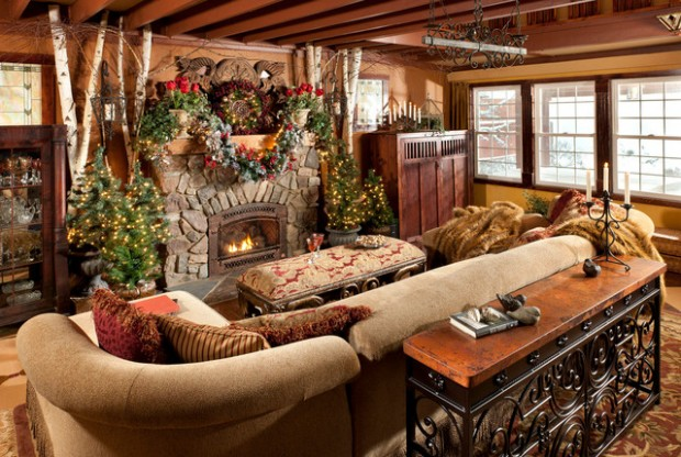 20 Brilliant Ideas How to Decorate Your Living Room for Christmas (1)