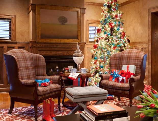20 Brilliant Ideas How to Decorate Your Living Room for Christmas (11)